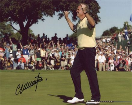 Colin Montgomerie, Ryder Cup, signed 10x8 inch photo.